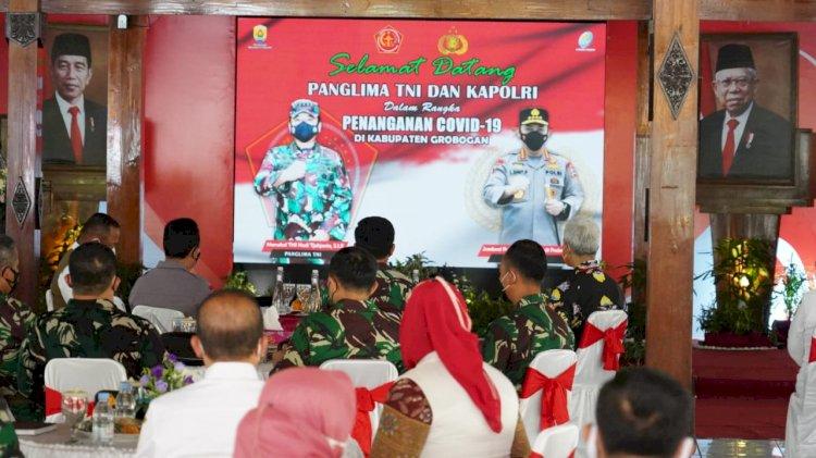 Panglima TNI, Kapolri dan Kepala BNPB Cek Pelaksaan Vaksinasi Di Grobogan