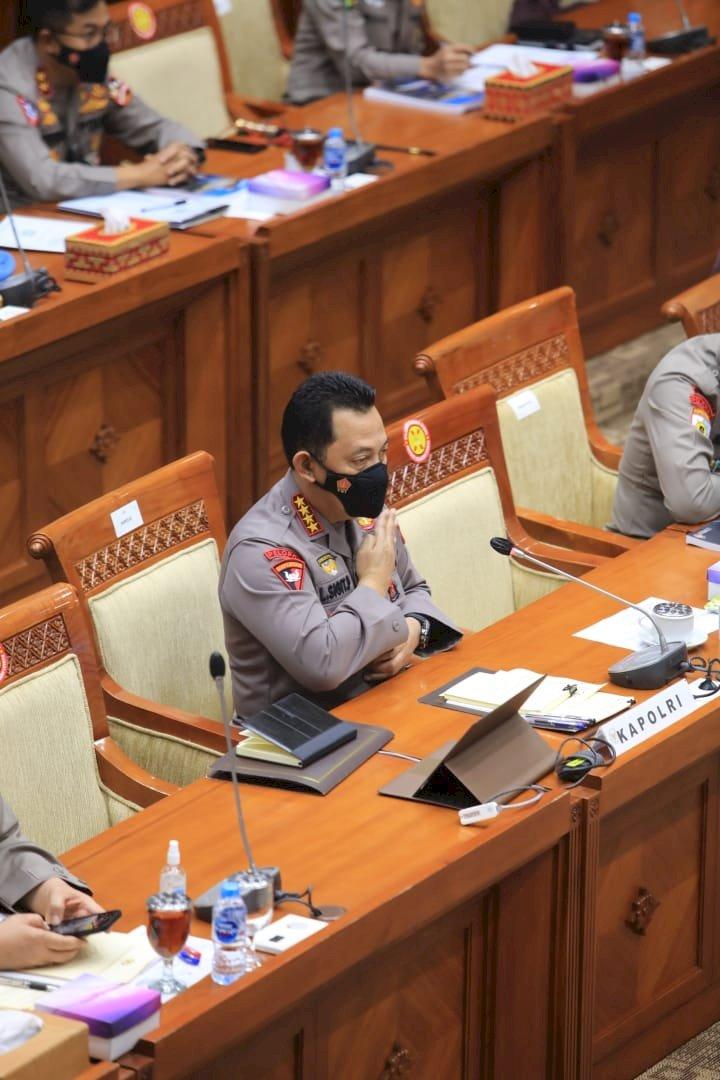 Dengar Pendapat (RDP) antara KapolriJenderal Listyo Sigit Prabowodengan Komisi III DPR