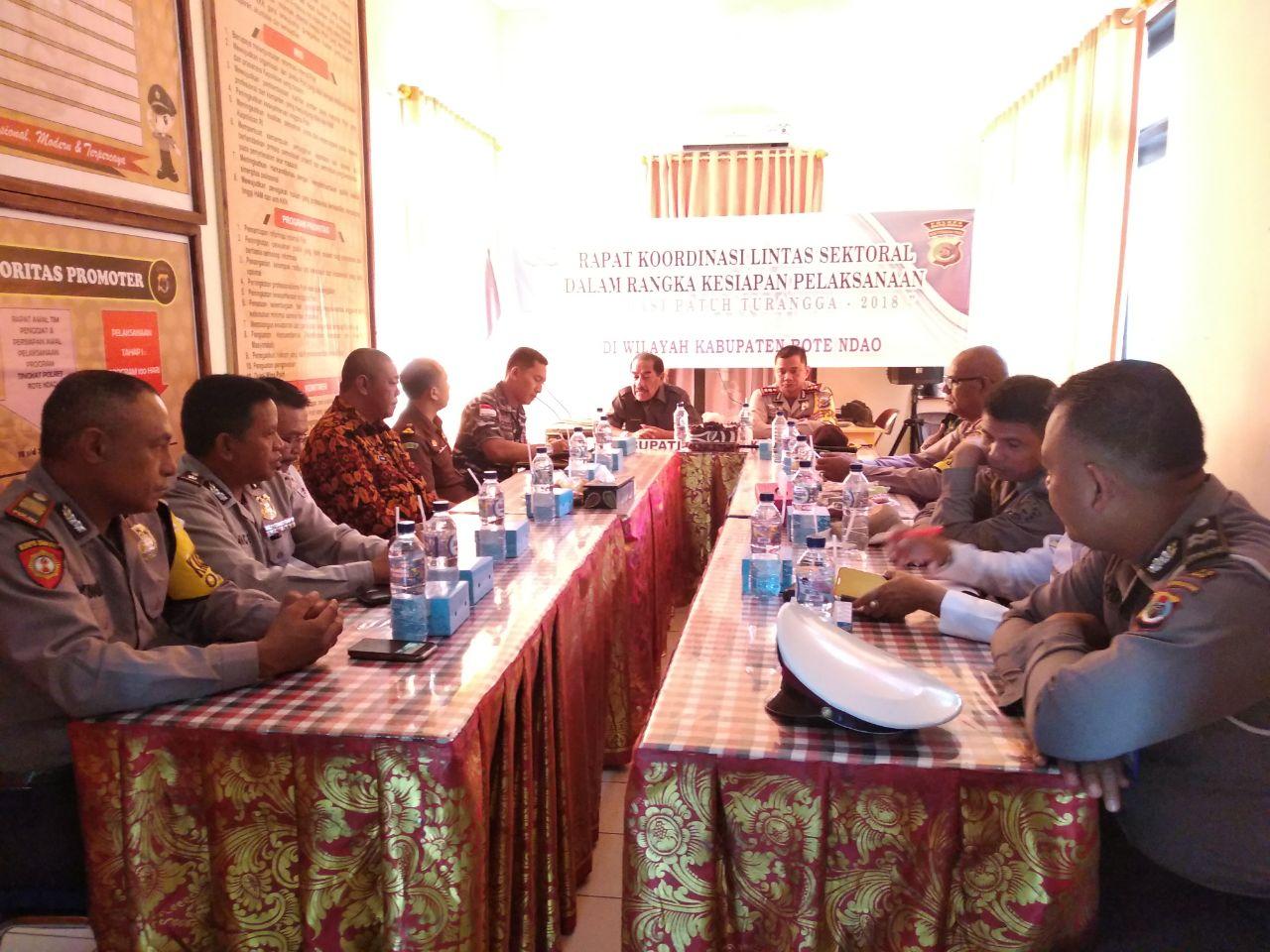 Samakan persepsi dan arah operasi, Polres Rote Ndao laksanakan Rapat Koordinasi