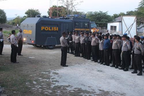 Kampanye terbuka perdana, Polres Rote Ndao kerahkan ratusan personel dan kendaraan taktis