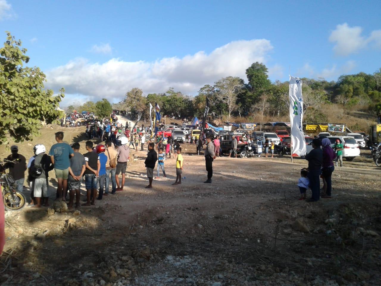 Puluhan Personel Amankan Kejuaraan Daerah Grasstrack di Mokdale, Lobalain-Rote Ndao